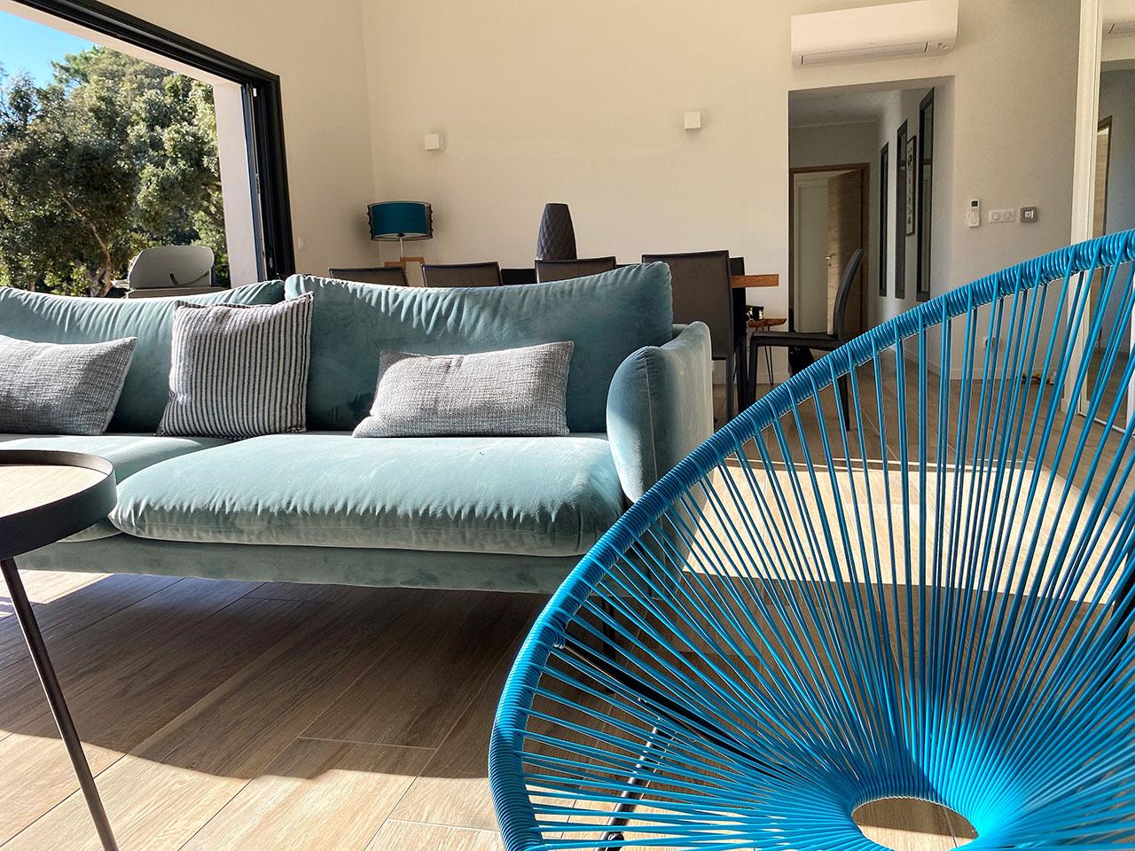 Location Villa Saint Cyprien Porto-Vecchio Salon ouverte